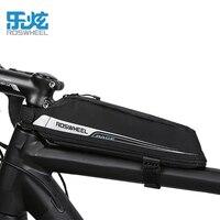 Roswheel 2017 Nuevo diseño Bicicletas bolso del tubo bicicleta de montaña mtb bici del camino bolsa superior Marcos Bolsas para ciclismo Bicicletas bolsa