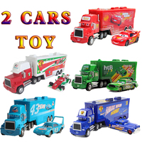 Disney Pixar Cars 2 3 Toys 2Pcs Set McQueen Mack Uncle Jimmy The King Jackson Storm