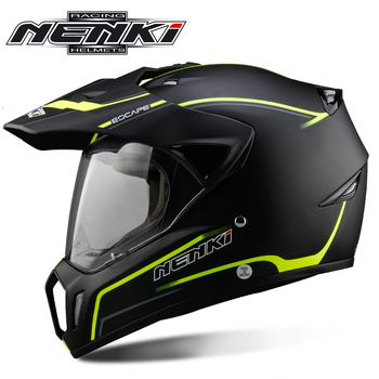 NENKI Black Motorcycle Helmet Motorcycle Full Face Helmet Motocross Men's Adventure Downhill DH Racing Casco Moto Helmet ECE