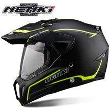 NENKI Black Motorcycle Helmet Motorcycle Full Face Helmet Mo