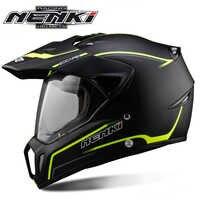 NENKI Motociclo Casco Nero del Motociclo Completo Viso Casco Motocross Avventura degli uomini Downhill DH Racing Casco Moto Casco ECE