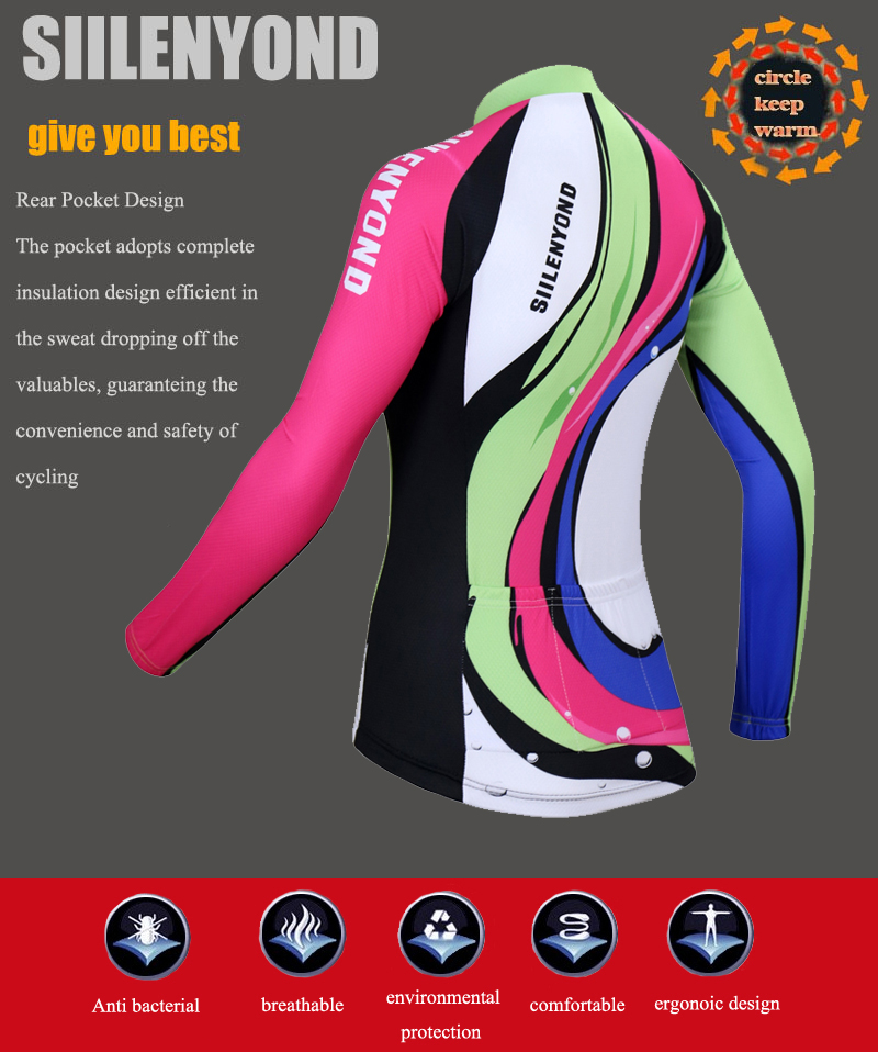 Siilenyond 2019 Pro Winter Thermal Fleece Cycling Jersey Keep Warm Racing Bike Cycling Clothing MTB Bicycle Cycling Clothes 6