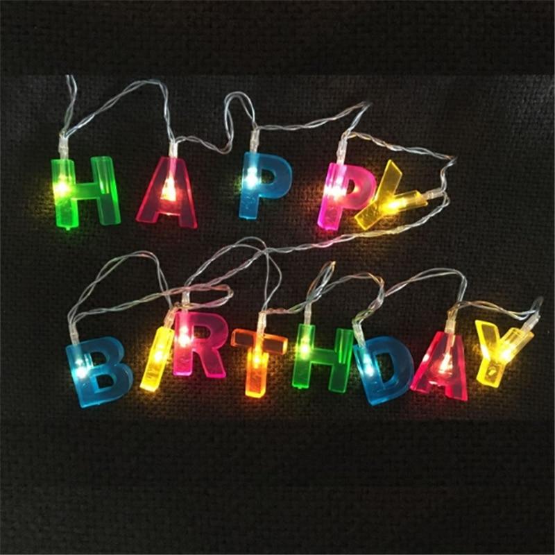 DIY Happy Birthday String Lights Christmas LED Lights
