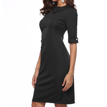 feitong Retro Below Knee Formal Dress With dresses woman party night  bodycon dresses 122120912