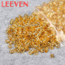 200pcs/lot Wholesale Dreadlock Beads Red Gold Silver Mixed Color Hair Bead for Dreadlocks Hair Rings Braiding Hole Micro Ring(China)