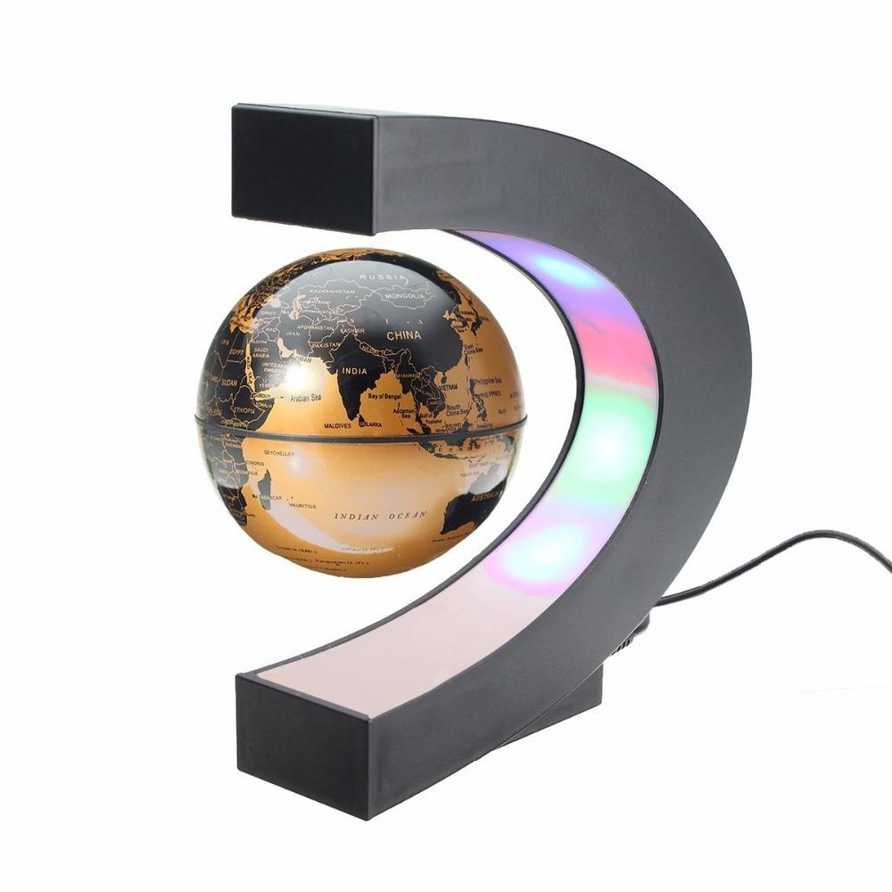 US $27.25 5% OFF|Novelty Magnetic Floating Globe World Map LED Light on