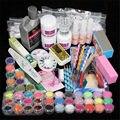 Professional 42 Acrílico Líquido Pó Glitter Clipper Primer Lixa de Unhas Dicas Art Ferramenta Ferramentas Brush Set Kit novo BTT-94