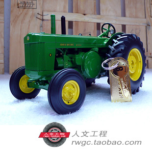 Deere Mannequin R Precission gold steel tractor agricultural automobile mannequin ERTL 1:16