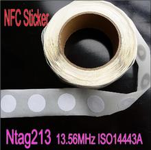 10pcs/Lot NFC Tag Sticker 13.56MHz ISO14443A Ntag213 NFC Sticker Universal Label RFID Tag for all NFC phones