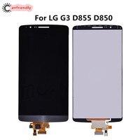 Display + Touch Screen Per LG G3 D855 D850 LCD di Ricambio Digitizer Assembly Per LG Optiums G 3 G3 lgg3 schermo Del Telefono display
