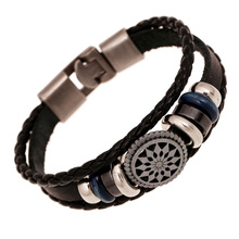 2017 New Fashion Rope Bracelet For Women Men Cuff Charm Genuine Leather Bracelets Bangles Bohemia Style