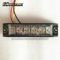 Luz de advertência externa do carro conduziu a luz de superfície da grade da montagem  22 testes padrões do flash  6*3 w conduziu a luz estroboscópica  impermeável (l142)