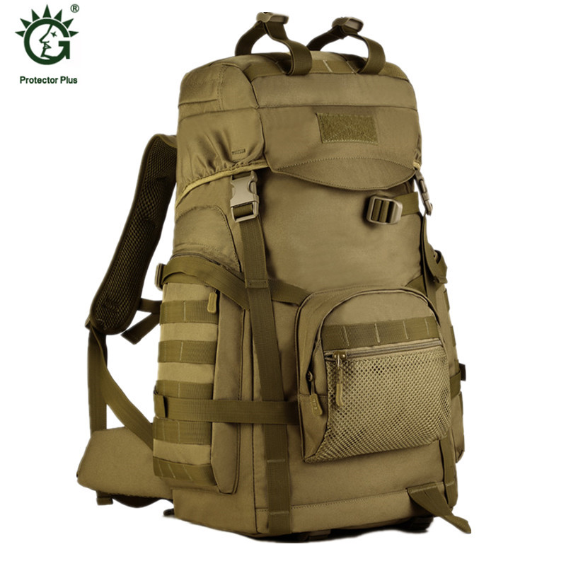 60L Outdoor Travel Large Capacity Backpack Tactical Rucksack Men Military Backpack Camping Climbing Sport Bag Mochila 60l outdoor military tactical backpack large capacity camping bags mountaineering bag men s hiking rucksack travel backpack