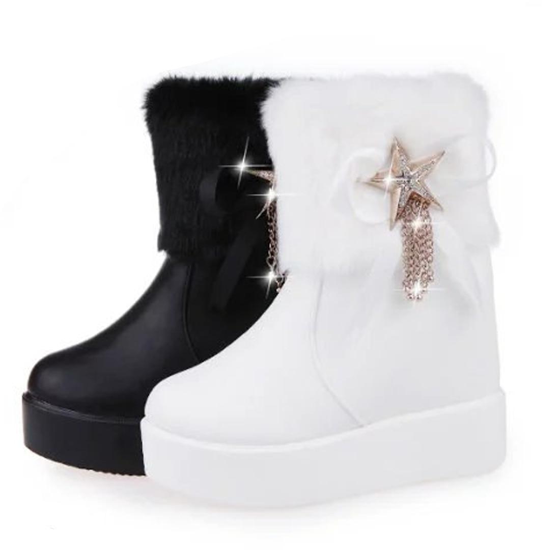 Popular White Faux Fur Boots-Buy Cheap White Faux Fur Boots lots ...