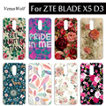 12 Patterns SOFT TPU Case Cover  Plastic Case For ZTE Blade X5 D3 Phone Case Colorful Fashion Phone Covers For ZTE Blade X5 D3