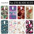 12 patrones soft tpu case case cubierta de plástico para zte blade x5 d3 teléfono case colorido moda cubiertas del teléfono para zte blade x5 d3