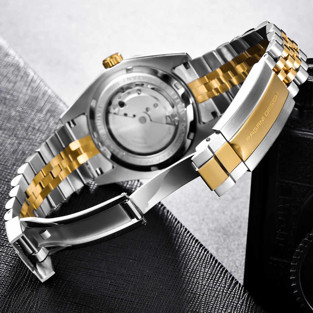 PAGANI DESIGN nouveau classique cadran noir de luxe hommes montres automatiques en acier inoxydable étanche montre mécanique Relogio Masculino