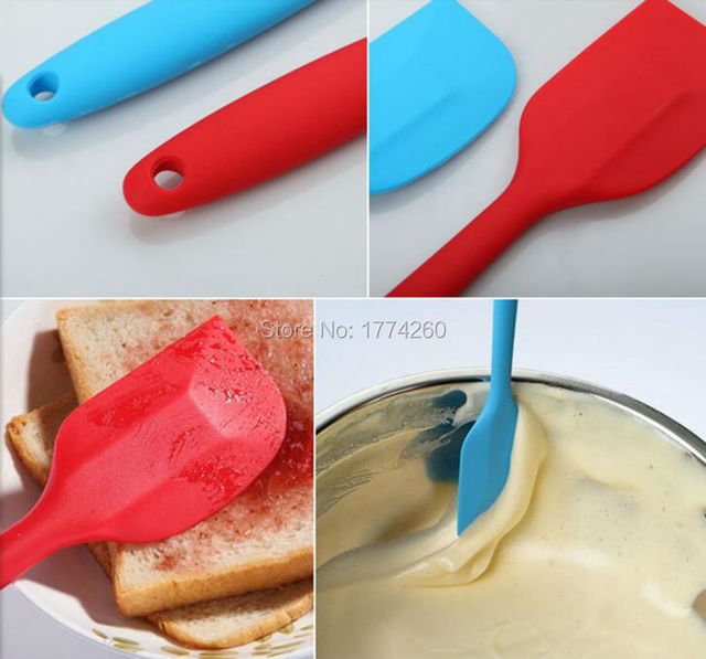 Two pieces Spatula Set Food Grade Non Stick Butter Cooking Silicone