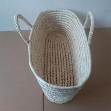 Corn woven baby crib bed basket baby sleeping basket bed newborn Baby Crib Protector For Newborns Baby Room Decoration crib bed portable baby cradle extended edition baby sleeping basket newborn bed mother and baby wholesale