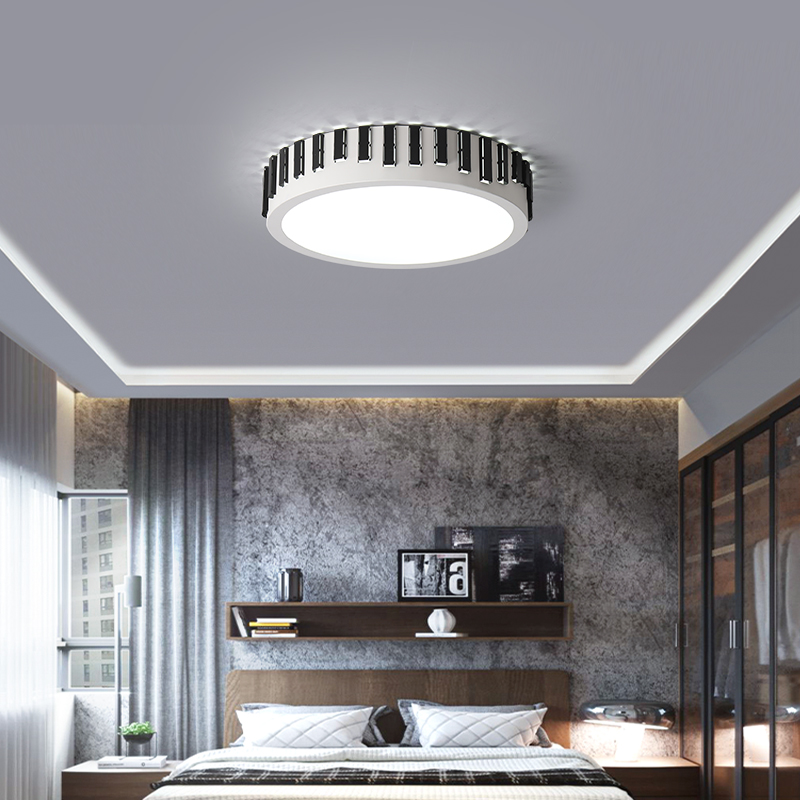 DX Modern Led Ceiling Light Dimmable Luster Living Room Lights Lamp Remote Control Ring Round Luminaire Fence Lighting Fixture dx modern led pendant lights wood lighting fixture restaurant lights glass lamp nordic design luminaire white warm luster