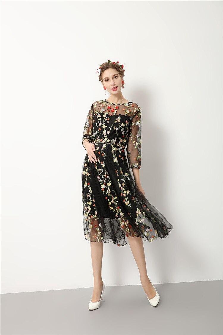 Aliexpress.com : Buy flower embroidery black summer maternity ...