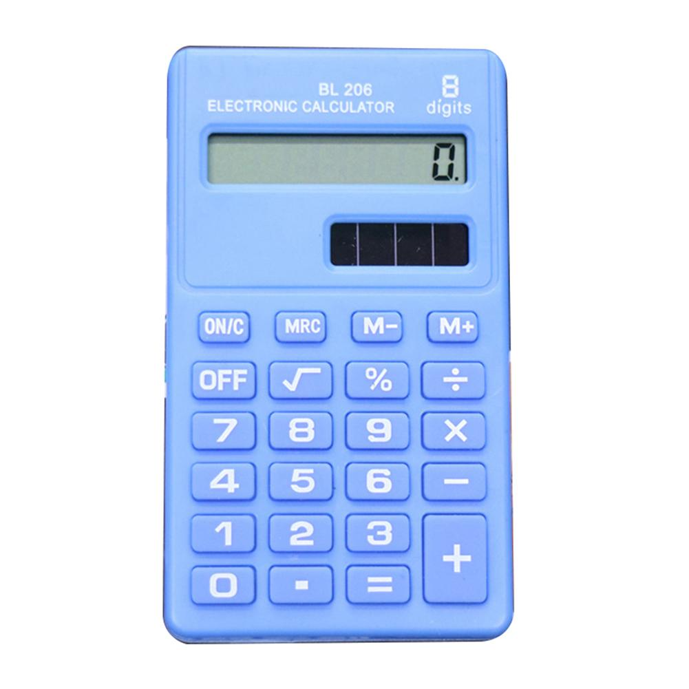 Candy Color 8 Digits Handheld Pocket Mini Electronic Calculator Students Office Supplies Coin Batteries Calculator Carry Extras