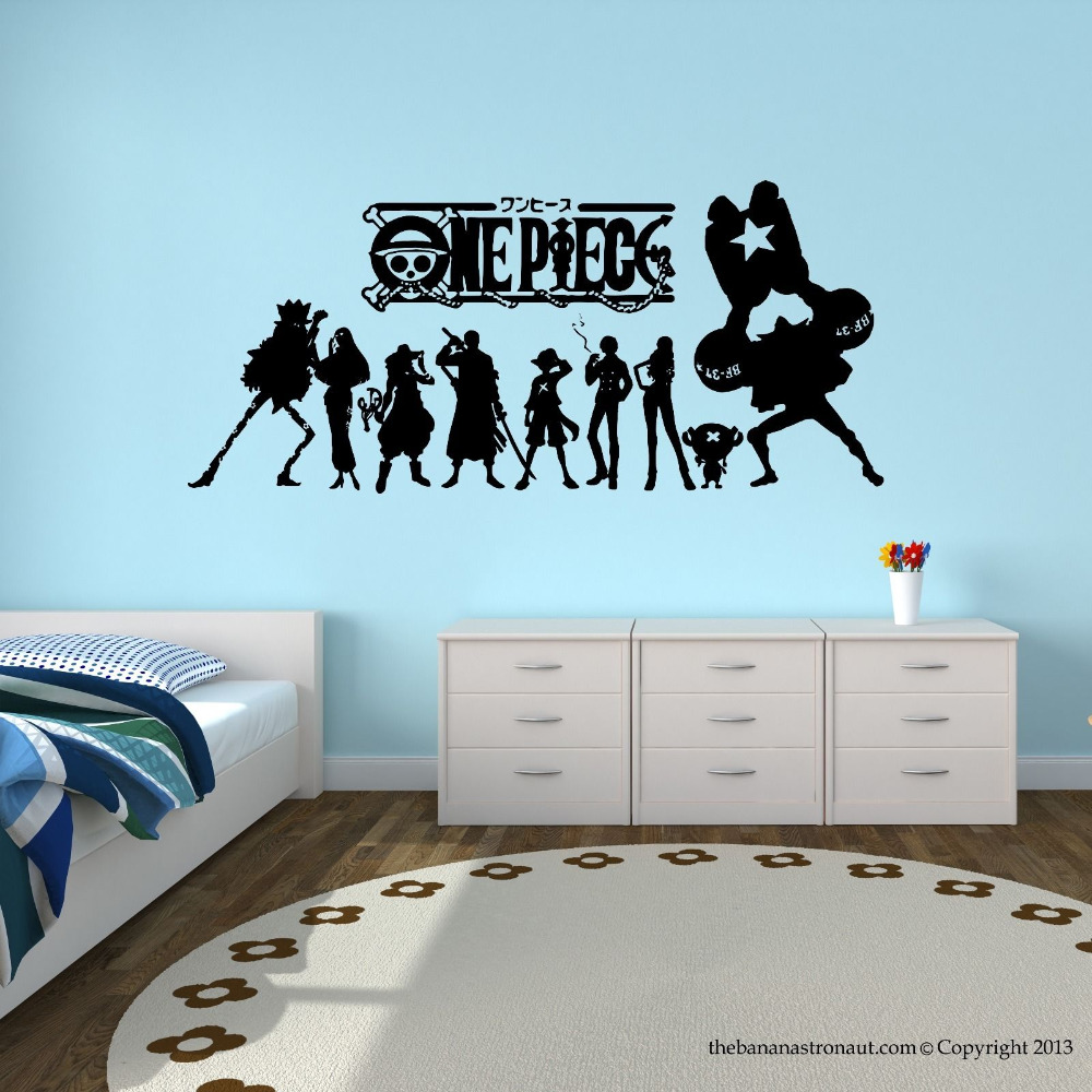 One Piece Japanese Anime Wall Decal Stickers Decor Modern