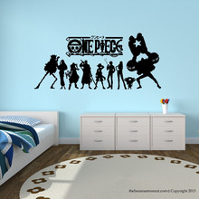 One piece Japanese Anime Wall Decal Stickers Decor Modern Stickers Vinyl Decal Cartoon Home Decor waterproof wallpaper D191