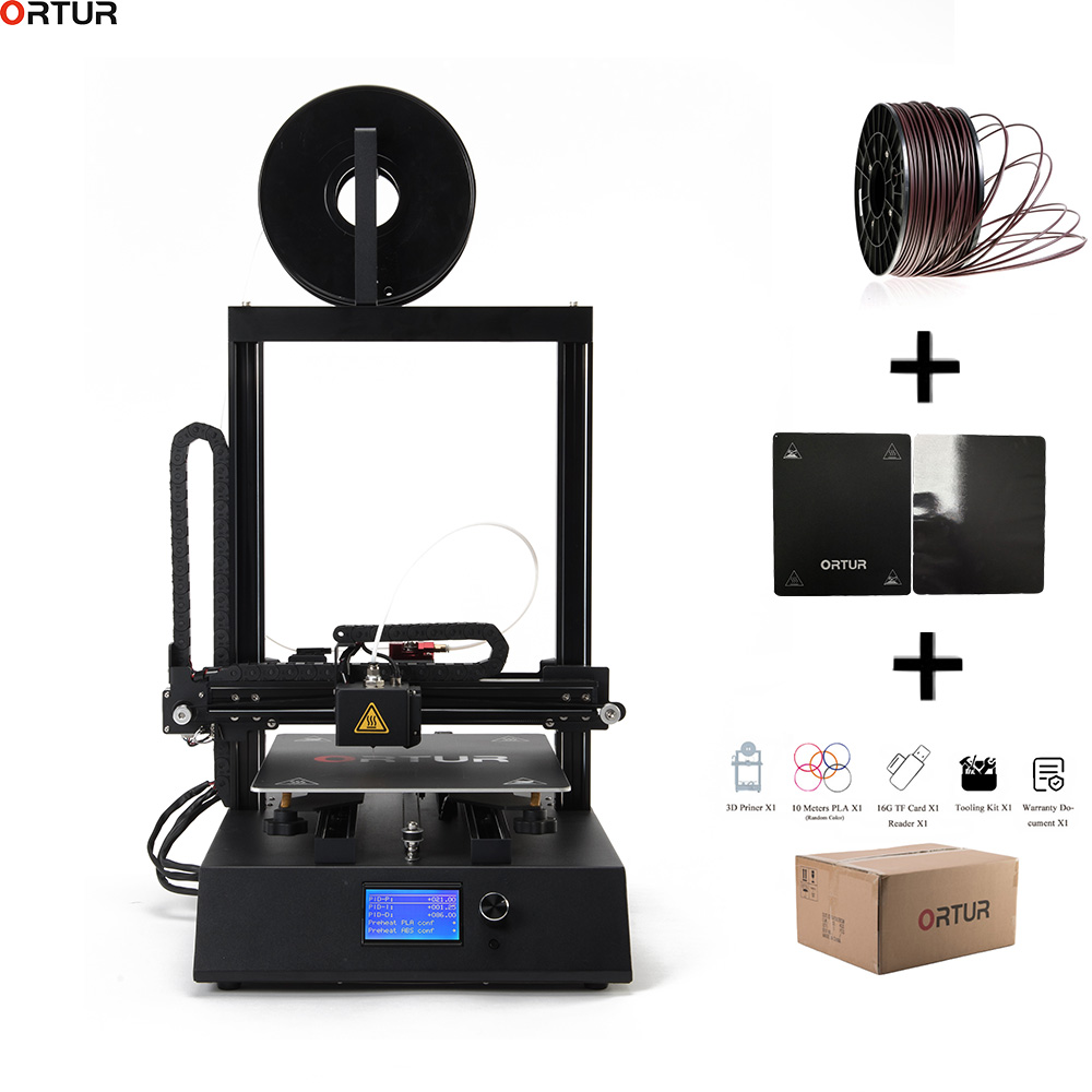 Ortur 3D Open Build Printer Magic Removable Carbon Steel Build Surface Platform with Power off Resume Print High Speed Precision in 3D Printers from Computer Office