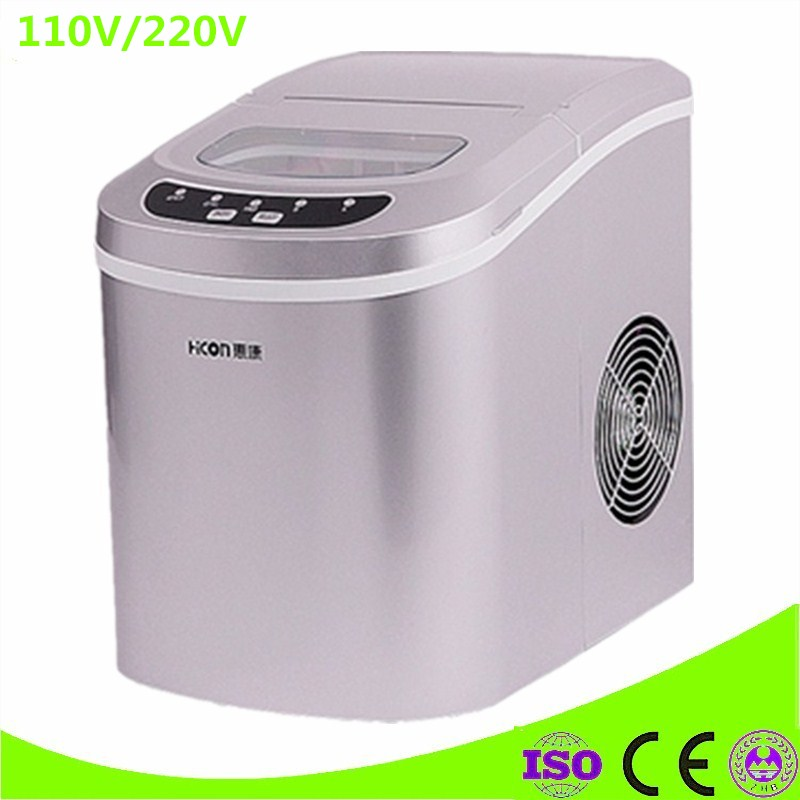 Newest Ice Maker Machine Commercial Milk Tea Shop Home Small Automatic Ice Machine Large Capacity 15kg/24h Ice Maker 2016 new generation powerful 220v electric ice crusher summer home use milk tea shop drink small commercial ice sand machine zf