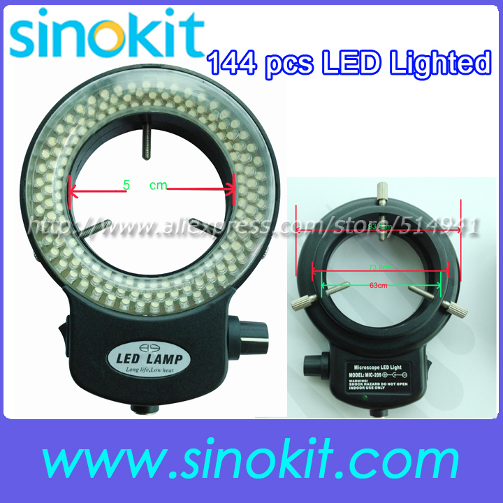 used for Microscopes and Camera 144pcs LED ring White light Color - SS-HG-09P