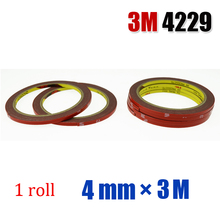 3M Auto Acrylic Foam Double Sided Attachment Tape  1roll*4mm*3M