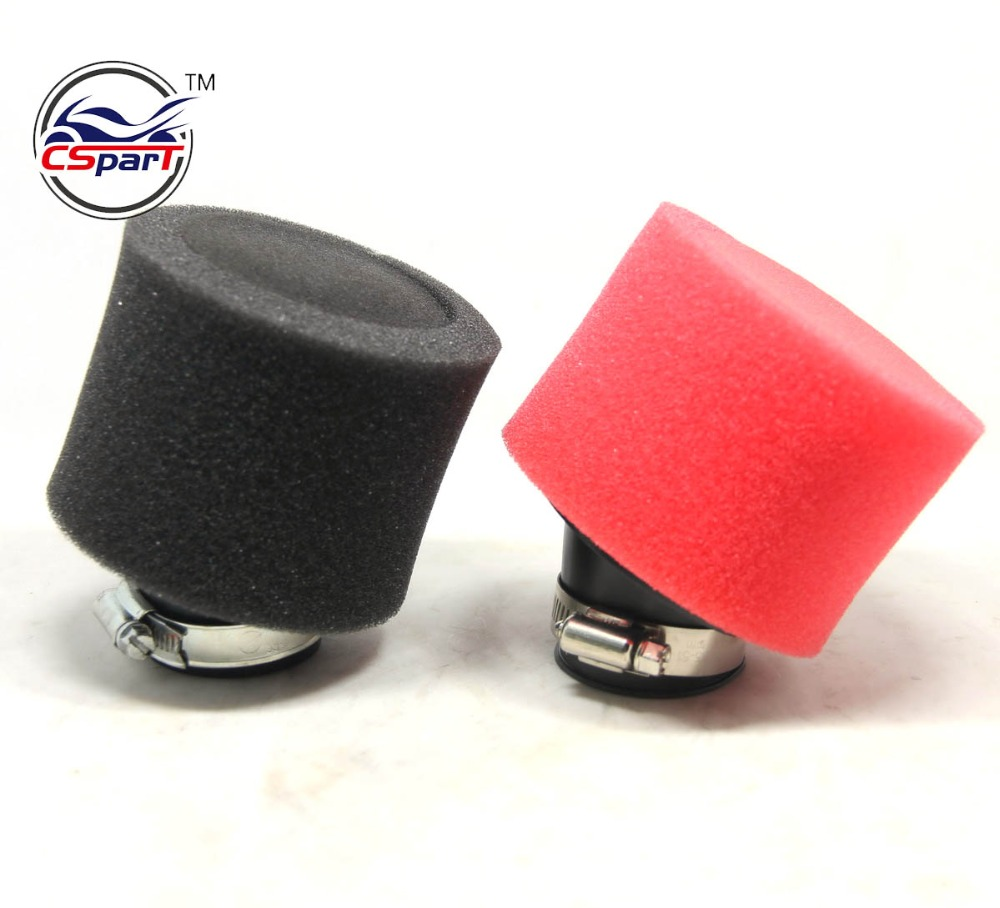 42mm Bent Angled Foam Air Filter Fuel Filter 150cc PIT Quad Dirt Bike ATV Buggy