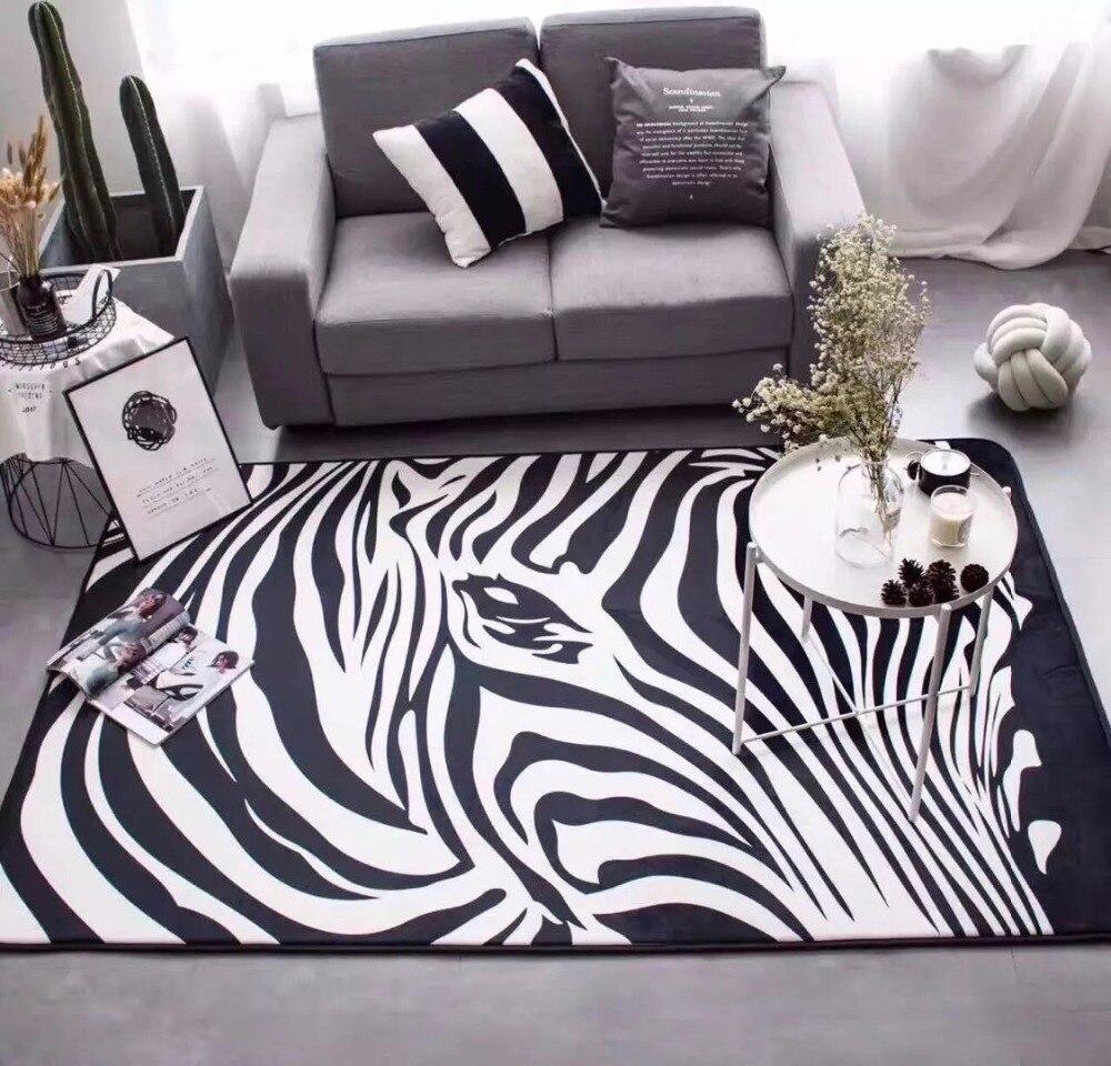 Tapis De Salon Noir Et Blanc