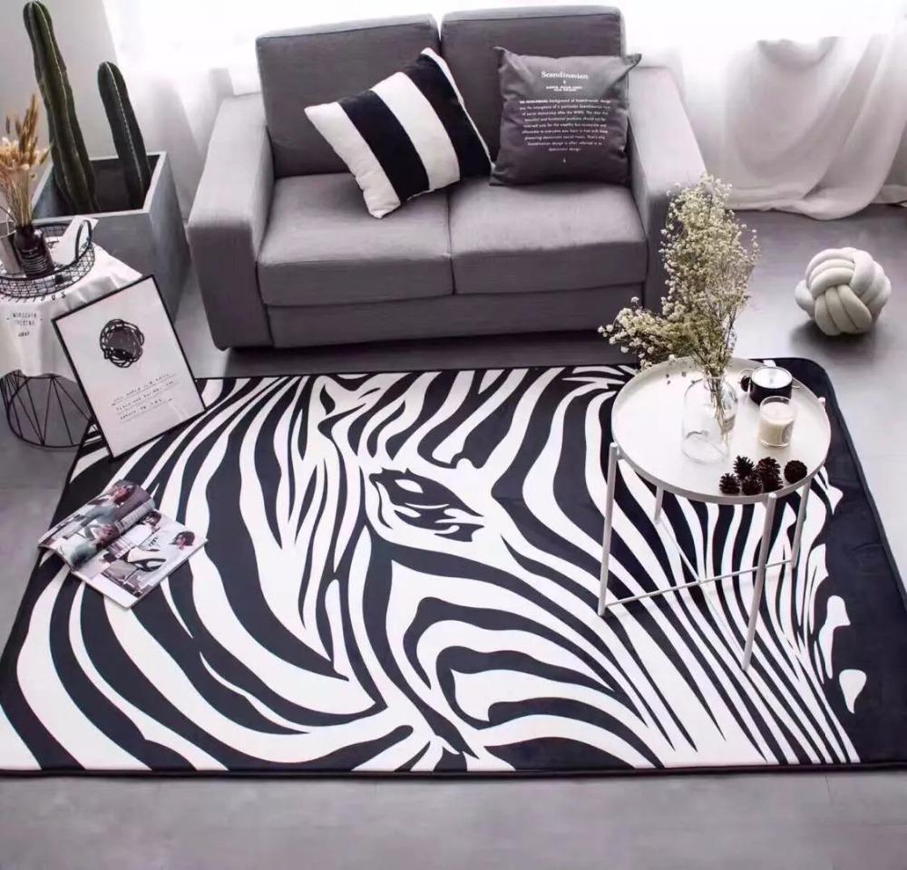 online get cheap weiß zebra teppich -aliexpress.com ... - Schlafzimmer Teppich Schwarz