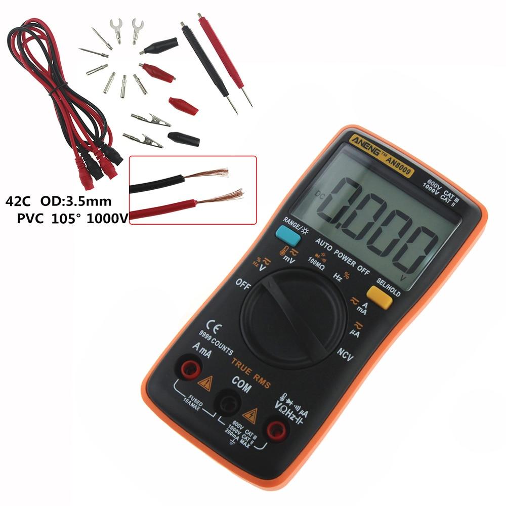 HTB1kHMVm6qhSKJjSspnq6A79XXa5 ANENG AN8009 True-RMS Digital Multimeter transistor tester capacitor tester automotive electrical capacitance meter temp diode