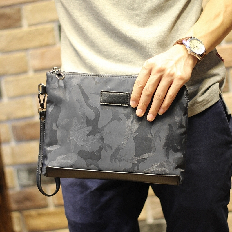 5746ca1710c1 England Style Fashion men s Clutch Bag PU leather Men Envelope Bag  Camouflage Clutch Handbag Wholesale High Quality Clutch purse-in Crossbody  Bags from ...