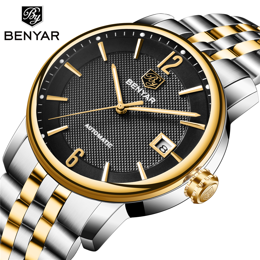 Full Steel Casual Waterproof Automatic Watch Men's Clock