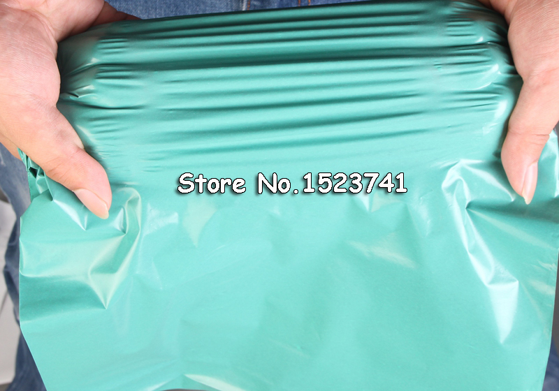 Image 4 - 100pcs/lot Green  Envelopes Poly Mailer BY Mail Plastic Mailing Bags Envelope Hight quality 17*30cm-in Paper Envelopes from Office & School Supplies