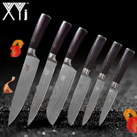 XYj Kitchen Knives Stainless Steel Knife Tools New Arrival 2018 Color Wood Handle Fruit Vegetable Meat