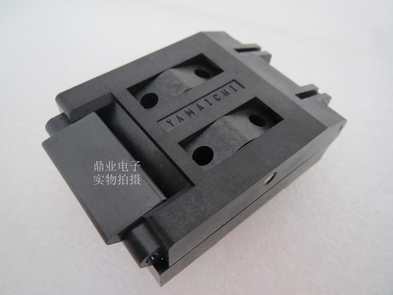 IC51-1324-828 TQFP132QFP132  Burn-in Socket gold plating IC testing seat Test Socket test bench