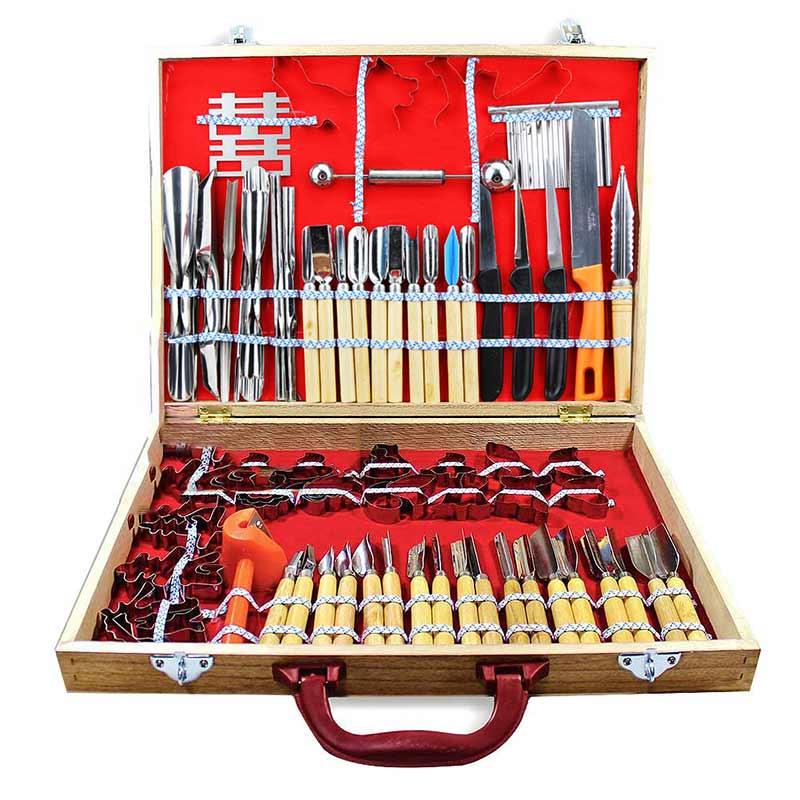 Vendita calda 80 pz Kichen Strumenti di Intaglio di Frutta Verdura Guarnire Taglio Incisione Peelers Cutter Tool Set 99