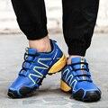 2017 Vulcanizan Los Zapatos de Los Hombres de la Marca Del Otoño Del Resorte A Prueba de agua A Prueba de Golpes Absorción Zapatos Casuales Masculinos Zapatos de Deporte de Tenis de la Superestrella