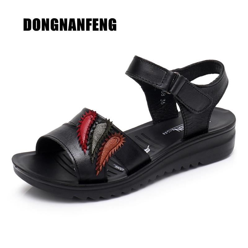 DONGNANFENG Mujeres Vieja Femenina Madre Señoras Zapatos Sandalias - Zapatos de mujer