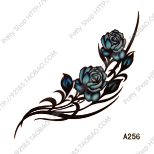 Waterproof Tattoo Sticker Female Small Hot Selling Blue Rose Tattoo