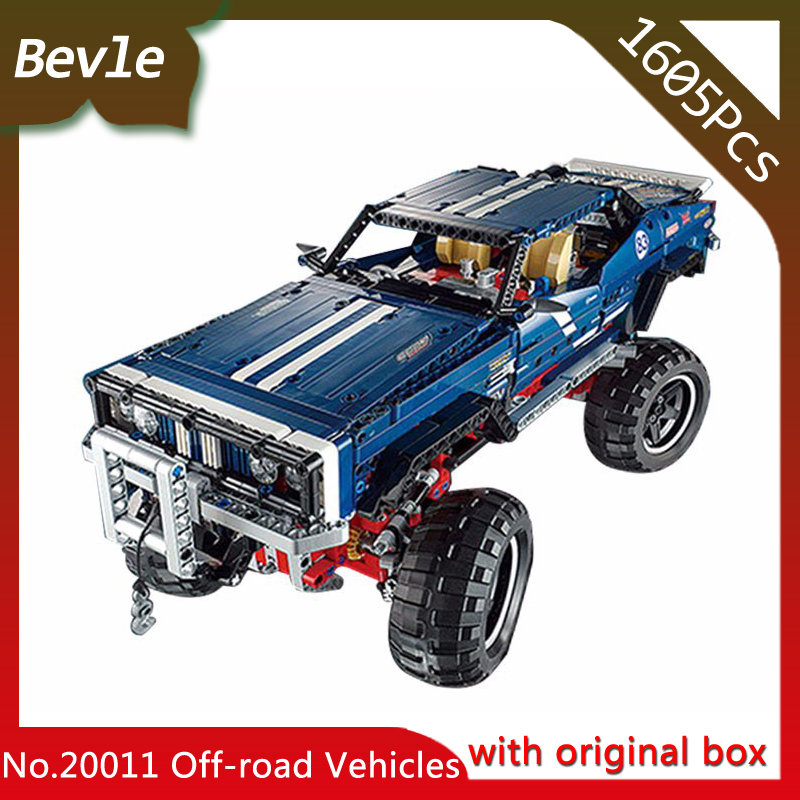 Bevle Store LEPIN 20011 1605Pcs With Original Box Technic Electric otor off-road vehicles Model building blocks 41999 managing the store