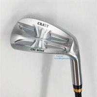 Новые cooyute мужские клюшки для гольфа CRAZY CNC фрезерованные утюги для гольфа комплект 4 9.P железные клюшки комплект R300 Сталь ручка клюшки для го