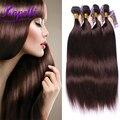 8A Brazilian Virgin Hair human hair bundles  #2 Dark Brown straight hair style 4pcs 100% Brazilian straight hair Weave Bundles