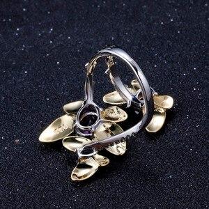 Image 4 - GEMS バレエ 925 スターリングシルバー手作り宝石リングファインジュエリー 2.04Ct 天然アメジスト調節可能な女性