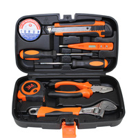 9PCS Mixed General Hand Tool Kit Home Multifunctional Auto Car Improvement Household Tools Portable Repairing Tool Toolbox Set